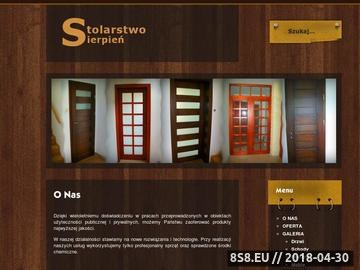 Zrzut strony Usługi stolarskie - drzwi drewniane