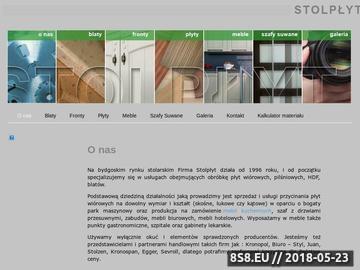 Zrzut strony Firma oferuje wszelkiego rodzaju meble na wymiar.