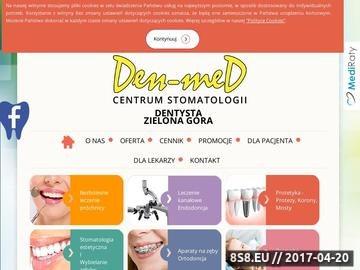 Zrzut strony Dentyści w Zielonej Górze czekają na nowych pacjentów.
