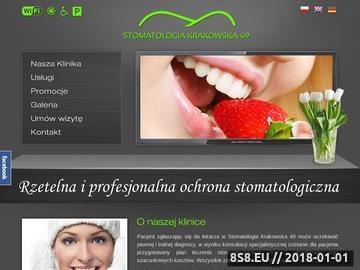 Zrzut strony Stomatolog Kraków
