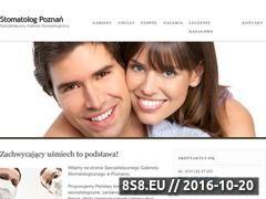 Miniaturka domeny stomatologpoznan.pl
