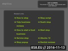 Miniaturka domeny www.stop12.eu