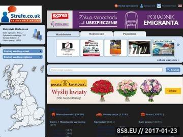 Zrzut strony Strefa.co.uk - Portal z ogłoszeniami w UK