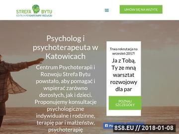 Zrzut strony Strefa Bytu - pomoc psychologiczna