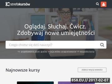 Zrzut strony Strefakursow.pl - kursy wideo