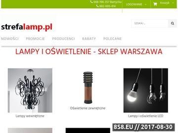 Zrzut strony Strefa Lamp