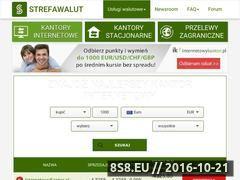 Miniaturka domeny www.strefawalut.pl