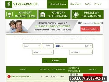Zrzut strony Porównujemy wszystkie kantory online strefawalut.pl najlepsze kantory internetowe