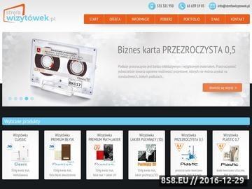 Zrzut strony Wizytówki Poznań
