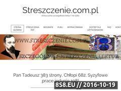 Miniaturka domeny streszczenie.com.pl