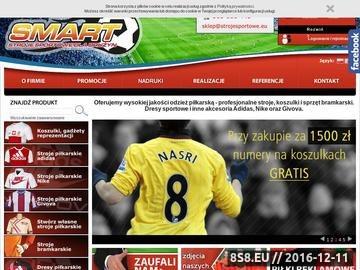 Zrzut strony StrojeSportowe.eu - stroje sportowe dla drużyn