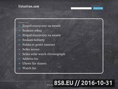 Miniaturka domeny stronki.listastron.com