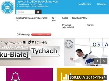 Zrzut strony Studia podyplomowe Śląsk