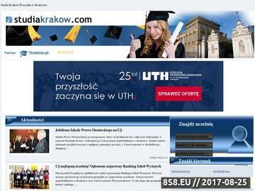 Zrzut strony Studia Kraków