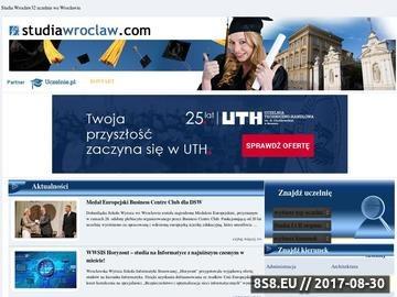 Zrzut strony Studia Wrocław