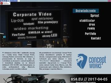 Zrzut strony Studio filmowe Poznań, Warszawa - wideofilmowanie