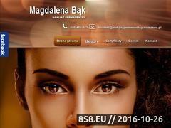 Miniaturka domeny www.studiokleopatra.pl