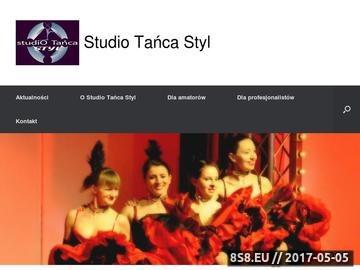 Zrzut strony Studio Tańca Styl - profesjonalna szkoła tańca i zespół taneczny