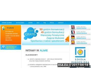 Zrzut strony Kursy językowe, szkoła językowa oraz nauka języków