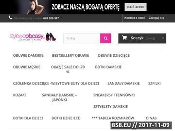 Zrzut strony Sklep z obuwiem - styloweobascy.pl