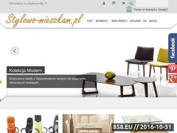 Zrzut strony Sprzedaż internetowa mebli