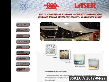 Zrzut strony Sufity podwieszane i ażurowe w dobrych cenach marki Laser najlepszym wyborem!