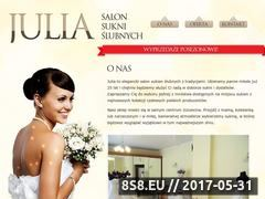 Miniaturka domeny www.suknieslubne-julia.pl