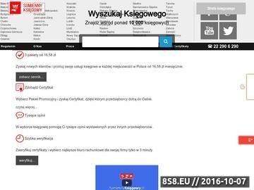 Zrzut strony Wyszukiwarka Księgowych dla miasta Łódź
