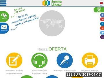 Zrzut strony Tłumaczenia specjalistyczne, prawne i inne