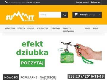Zrzut strony Sprzedaż detaliczna sprzętu turystycznego i wspinaczkowego