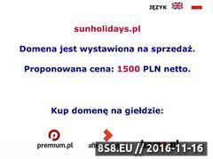 Miniaturka domeny www.sunholidays.pl