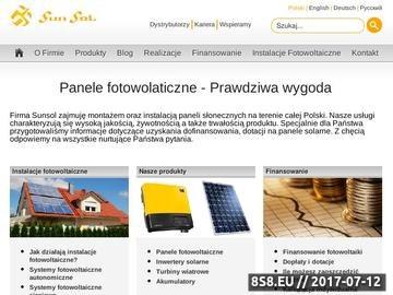 Zrzut strony Panele fotowoltaiczne SunSol