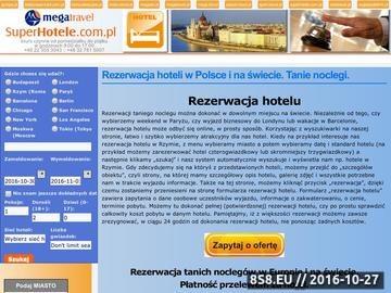 Zrzut strony Szybka rezerwacja hoteli
