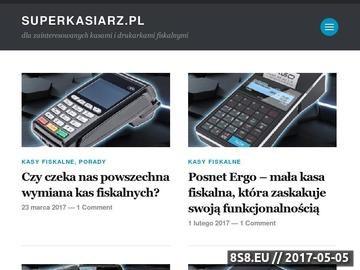 Zrzut strony Artykuły o kasach i drukarkach fiskalnych