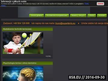 Zrzut strony Nauka tenisa Szczecin