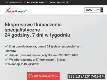 Zrzut strony Tłumaczenia