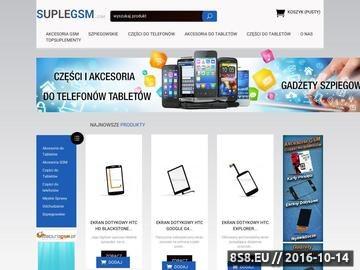 Zrzut strony Części GSM do telefonów i tabletów oraz akcesoria GSM