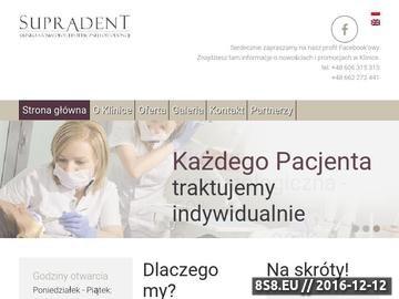 Zrzut strony Supradent - dentysta Warszawa