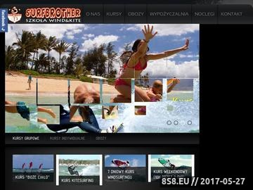 Zrzut strony Windsurfing, kursy kitesurfingu, kwatery Chałupy