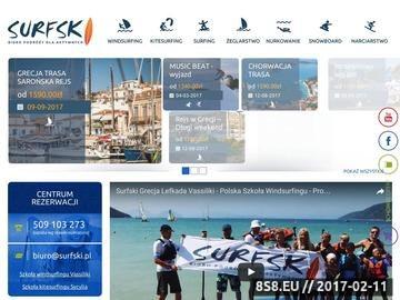 Zrzut strony Szkoła kitesurfingu