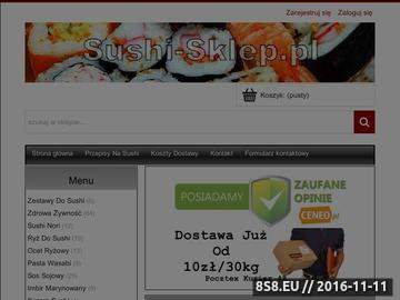 Zrzut strony Orientalny sklep z produktami do Sushi, Sajgonek i Kuchni Azji