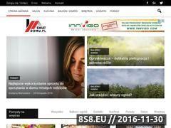 Miniaturka domeny www.swiat-domu.pl