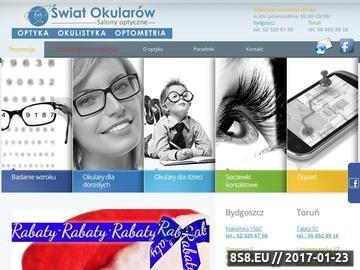 Zrzut strony Optyk Świat Okularów