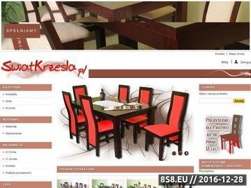 Zrzut strony Swiatkrzesel.pl - krzesła drewniane, stoły drewniane do jadalni