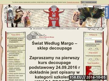 Zrzut strony Świat według Margo - pracownia zdobnicza, lampy zdobione