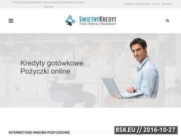 Zrzut strony Serwis oferuje pożyczki online