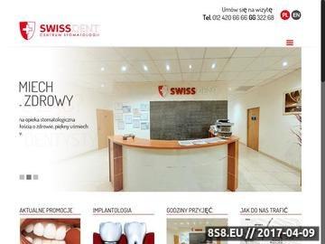 Zrzut strony Swissdent - dentysta Kraków, wybielanie zębów, stomatolog, protetyka, ortodoncja