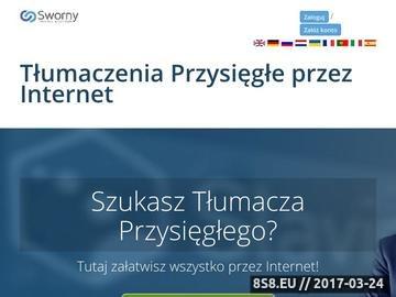 Zrzut strony Tłumacz przysięgły Sworny