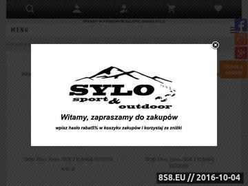 Zrzut strony Sklep turystyczny, sklep górski - treking, sport i outdoor w SYLO