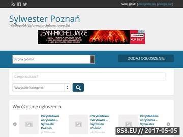 Zrzut strony Oferty Sylwestrowe Poznań